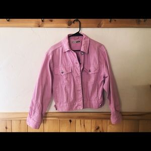 Top shop pink denim jacket